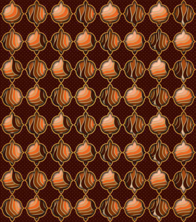 Vintage background with ornament. Illustration 10 version