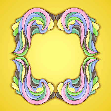 Abstract colorful frame. Illustration 10 version Illustration