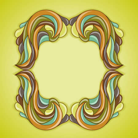 Abstract colorful frame. Illustration