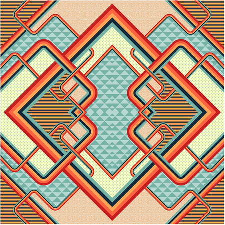 Retro stile abstract. Illustration
