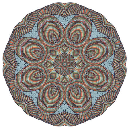 Vector illustration with abstract rosette. Ilustração