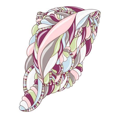 Vector illustration with abstraction. Ilustração