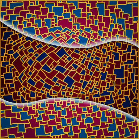 Blue  pomegranate pattern