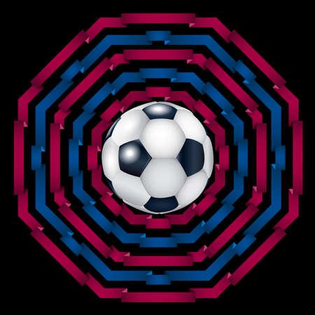 Pomegranate backdrop with football ball