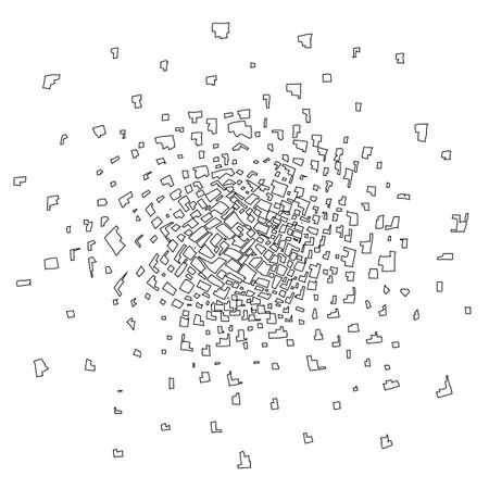 Abstract confetti explosion design Ilustração