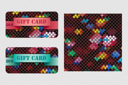 Colorful set with gift cards. Illustration 10 version Imagens - 110267069