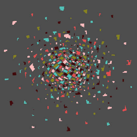 Colorful abstract explosion. Illustration 10 version Imagens - 133799368