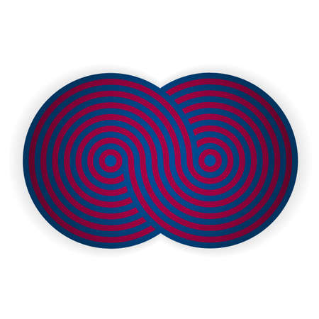Blue - pomegranate shape. Illustration 10 version. Ilustração