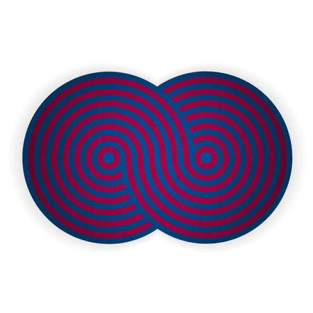 Blue - pomegranate shape. Illustration 10 version. Illustration