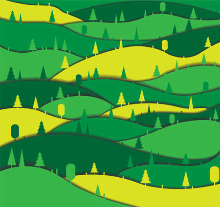 Background with forest. Illustration 10 version