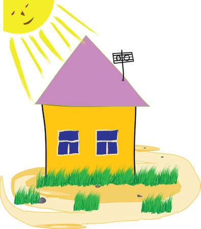 Childrens small house Illustration
