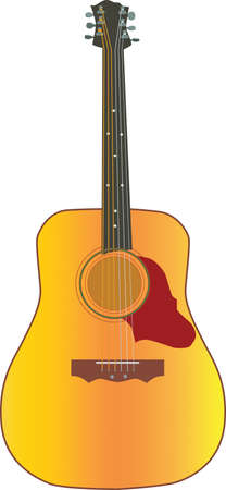 Classic guitar Illustration