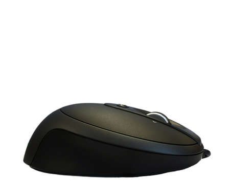 Black isolated laser computer mouse