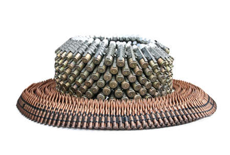 Various bullets located on a circle Stock Photo