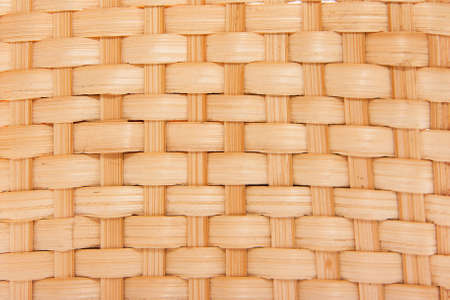 tinge: Woven wood texture with a yellow tinge Stock Photo
