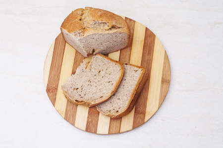 Appetzing homemade bread on table