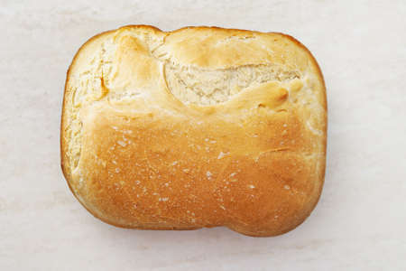 Petite white homemade bread on the table Stock Photo