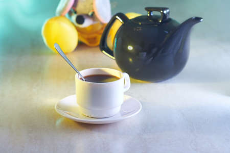 Coffee cup and kettle with toy