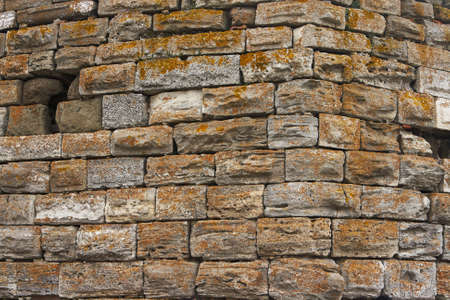 Very old brick wall texture Stock Photo