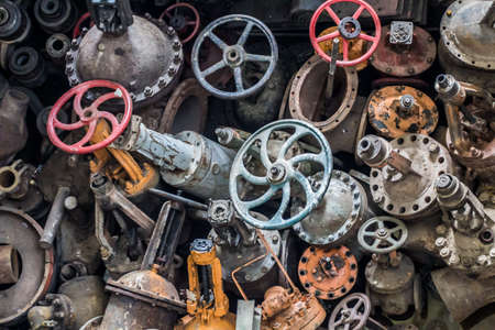 Dump the old colored water valves Stock Photo