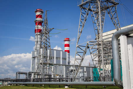isolator insulator: Electrical power station in the sky Stock Photo