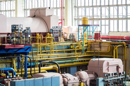 Sol de l'usine de conception industrielle avec des tuyaux Banque d'images - 60235604
