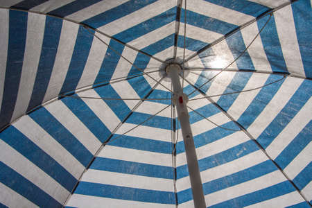 Detail of beach umbrella Banque d'images - 110229254