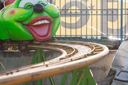 Attraction type roller coaster near the caterpillar caterpillar.