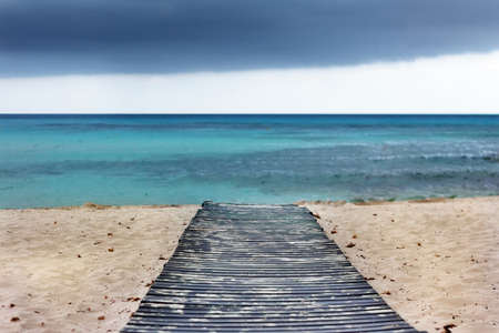 catwalk on beach in Menorca - Balearic Islands  Spain