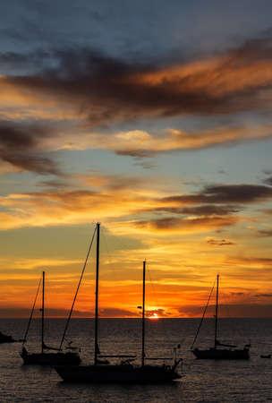 Arguineguin, Sunset on the beach - Canary Islands Banco de Imagens