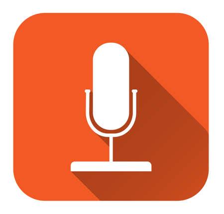 microphone web icon, flat design Ilustração