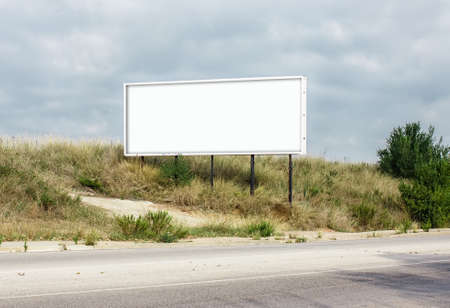 Horizontal roadside billboard (blank for a designer to place on a text. image, message..) Banco de Imagens