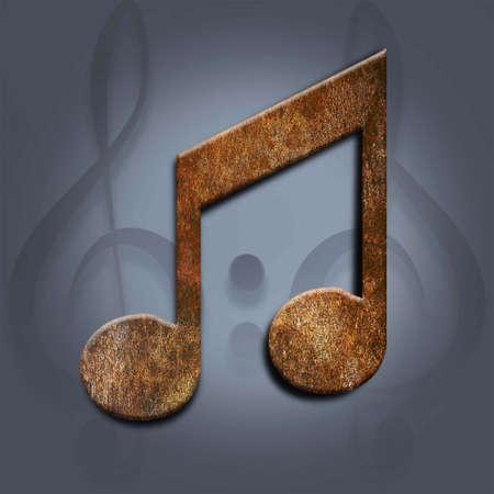notas musicales: corchea nota musical, la textura de fondo