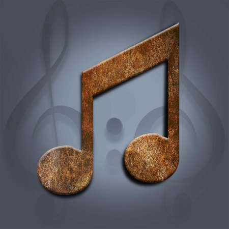 note musicali: quaver nota musicale, texture di sfondo