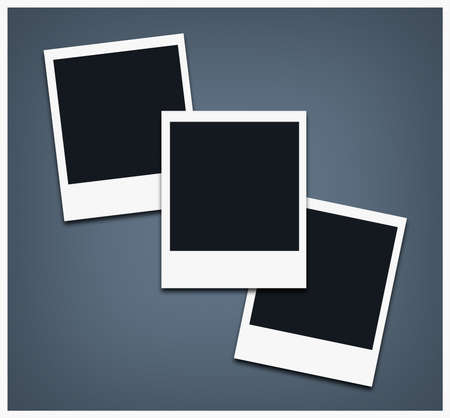 Polaroid photo frames, custom color background (empty space to place an image)