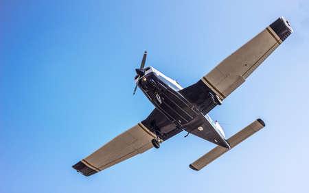 sport airplane - sky background Banco de Imagens