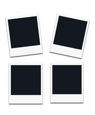 Instant photo frames, isolated on white background. Banco de Imagens