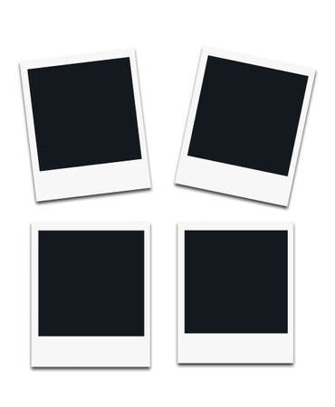 lomo: Instant photo frames, isolated on white background. Stock Photo