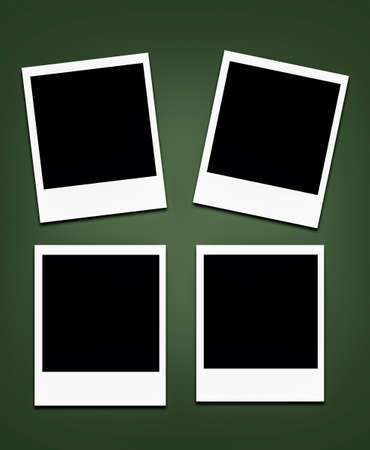 empty space: instant photo frames (with empty space) Stock Photo