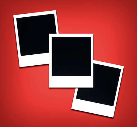 empty space: instant photo frames with empty space Stock Photo