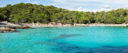 Macarella beach, turquoise Mediterranean sea in Balearic islands Banco de Imagens