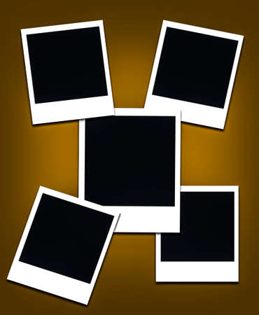 instant photo frames - empty space to place an image