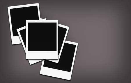 lomo: Empty photo frame- grey color background