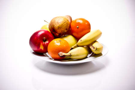 an bunch of different fruits is shown in front of white background photo