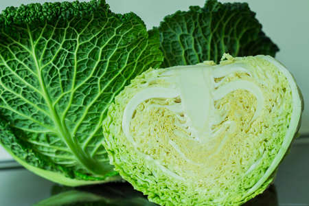 savoy cabbage: Fresh savoy cabbage