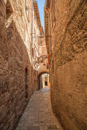 val: Alley in the city Colle Val dElsa Tuscany Italy