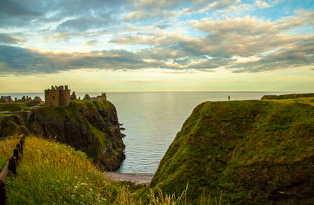 castle rock: Dunnottar Castle Rock in the evening light