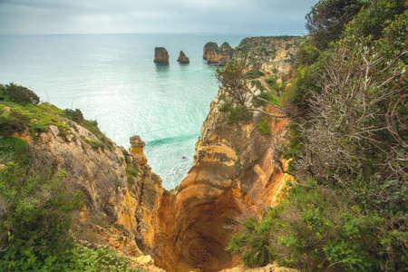 algarve: Rock Formation Algarve coastline Portugal