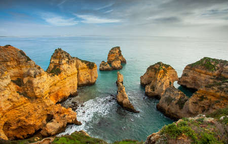 booked: Algarve Portugal rockycoast Stock Photo