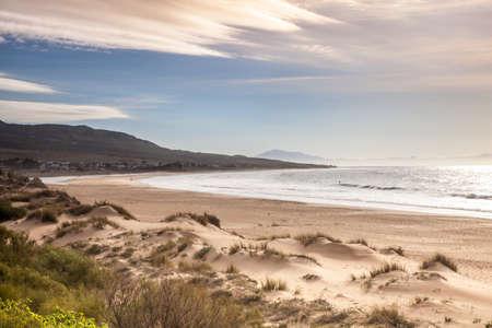 Playa de Bolonia Bay Costa de la luz Andalusia on a mild winter day Standard-Bild